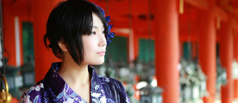 奈良春日大社で浴衣ポートレート Yukata Fashion 玖玲さん